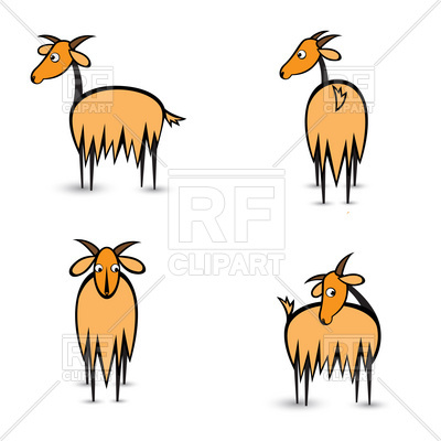 400x400 Standing Goat Royalty Free Vector Clip Art Image