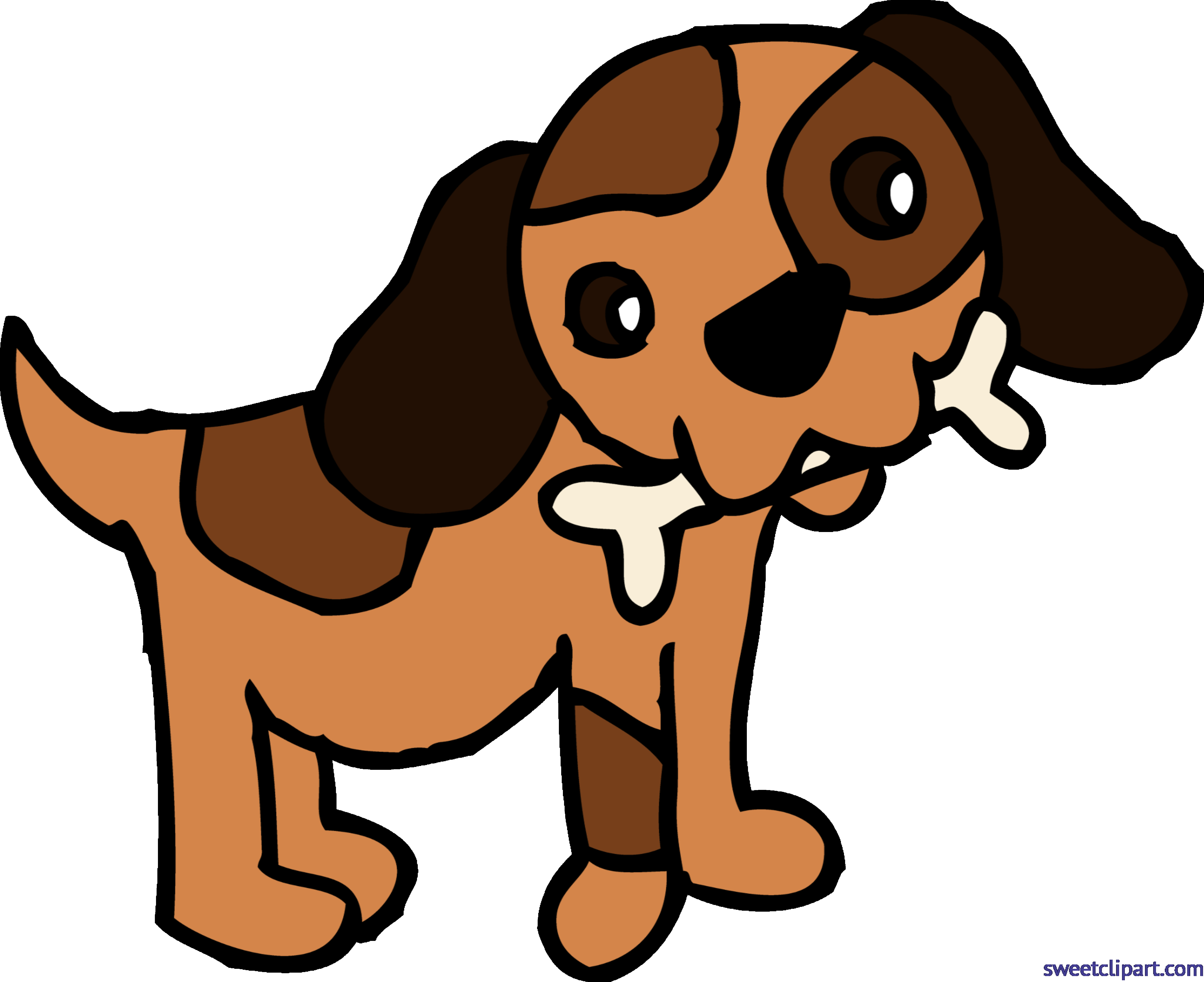 6297x5137 Puppy Dog With Bone Clip Art Sweet Unusual Clipart Png Transitionsfv