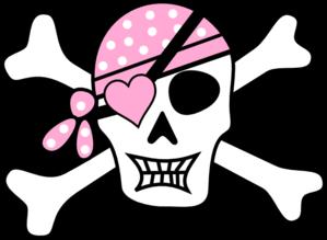 299x219 Purple Pirate Cross Bones Clip Art