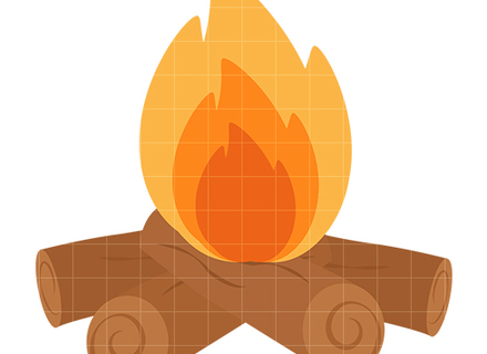 440x320 Campfire And Marshmallow Clip Art Watercolor Clip Art, Fire Pit