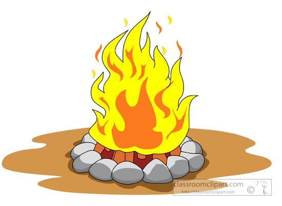 550x403 Campfire Girl Scout Clipart