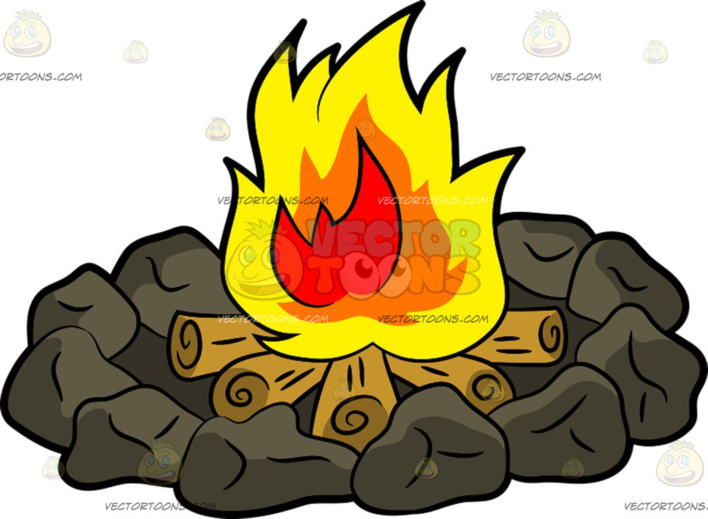 1024x751 Luxury Inspiration Campfire Cartoon Clipart Vector Toons Images