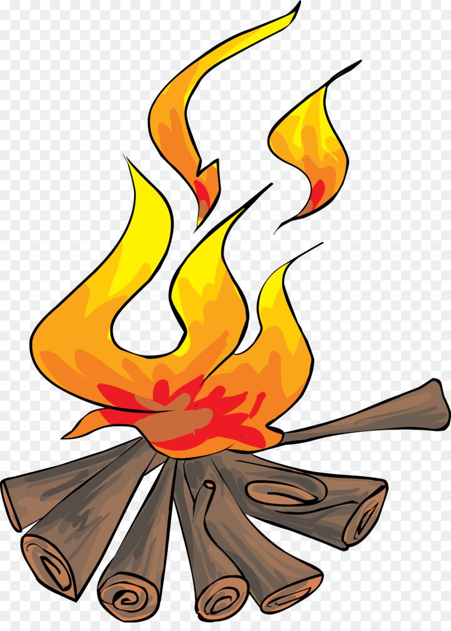 900x1260 S'More Bonfire Free Clip Art