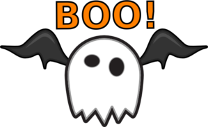 299x183 Ghost Saying Boo! Clip Art