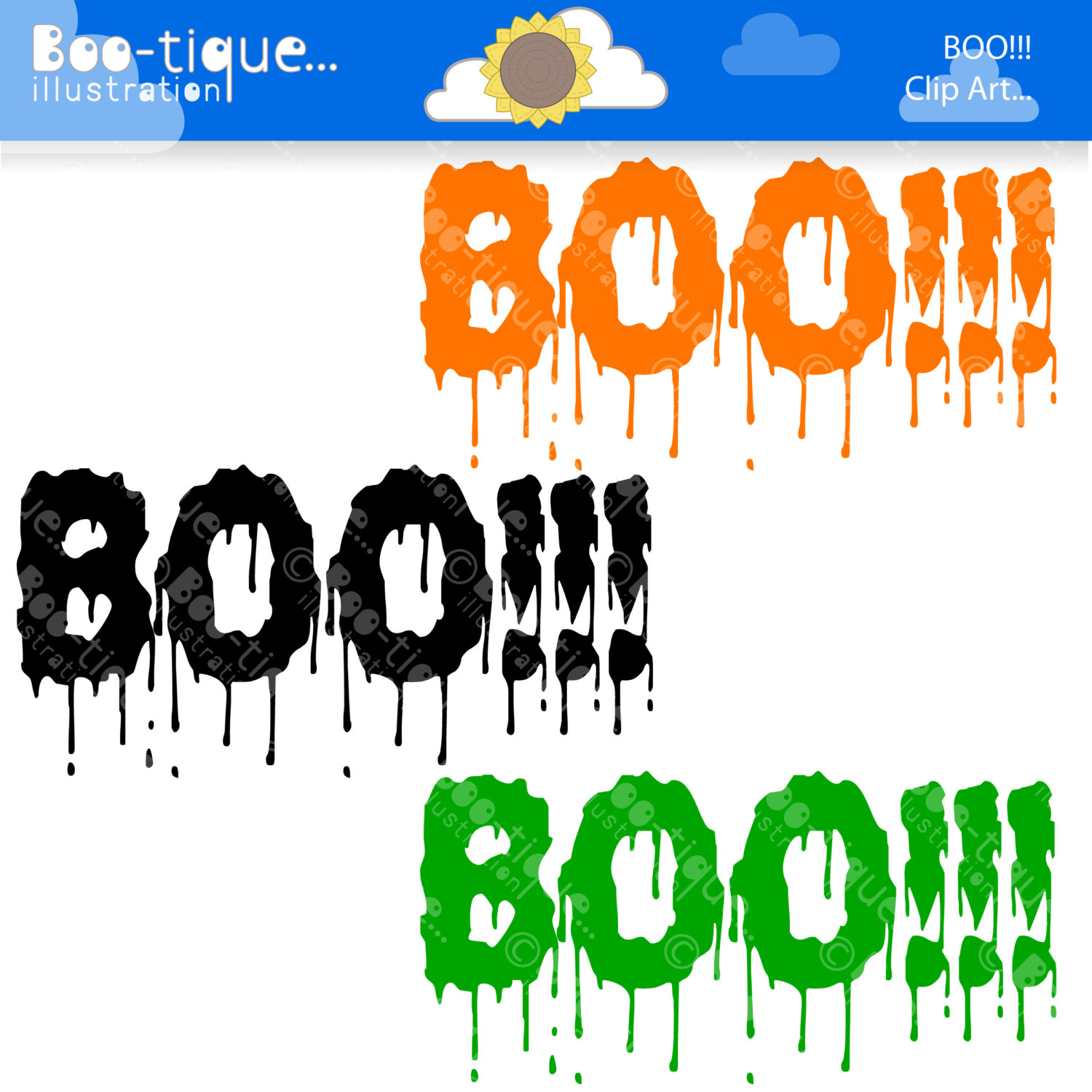 1500x1500 Halloween Clipart. Halloween Clip Art For Instant Download. Boo