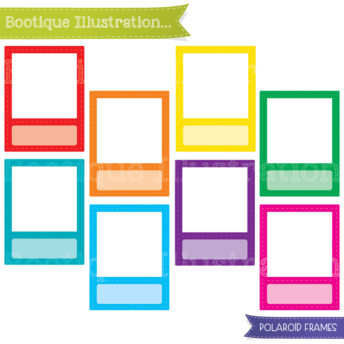 1200x1200 Polaroid Clip Art Boo Tique Illustration Clipart