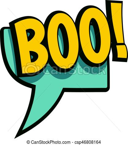 417x470 Boo, Speech Bubble Icon Isolated. Boo, Speech Bubble Icon Clip