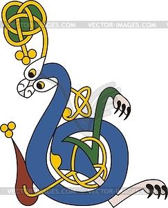 243x300 Celtic Initial Letter B