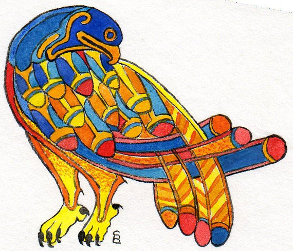 570x489 Inspired By The Book Of Kells Bird