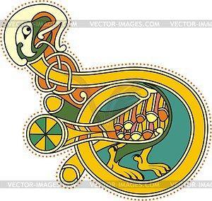 300x284 Kells D 10th Century Illumination Letters
