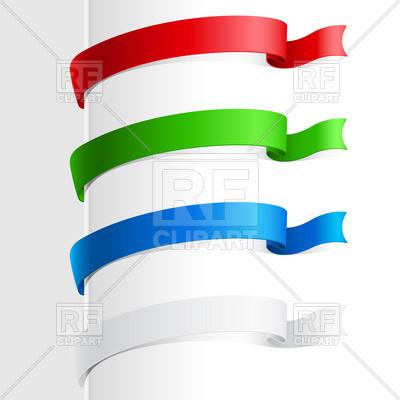 400x400 Colorful Bookmark Ribbon Royalty Free Vector Clip Art Image