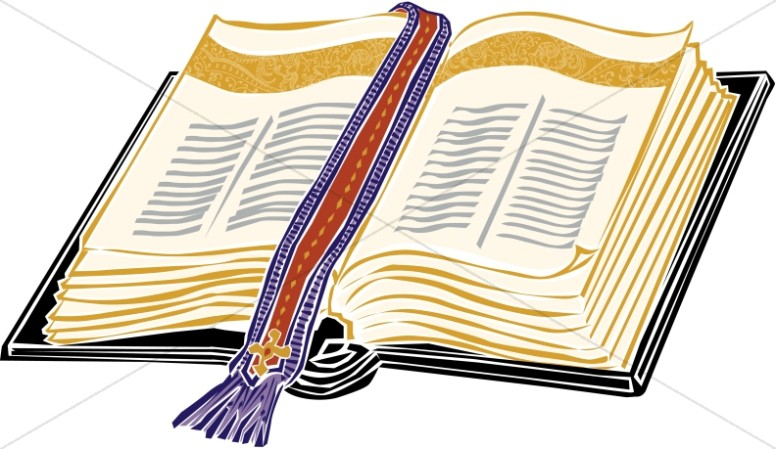 776x449 Gold Bible With Elegant Bookmark Bible Clipart