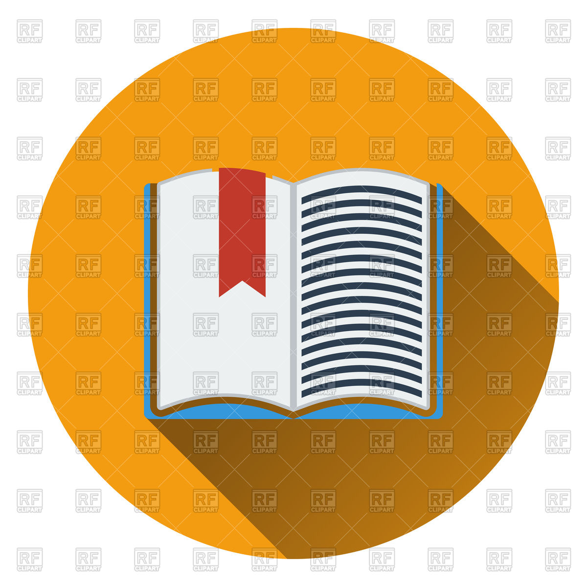 1200x1200 Open Book With Bookmark Icon Royalty Free Vector Clip Art Image