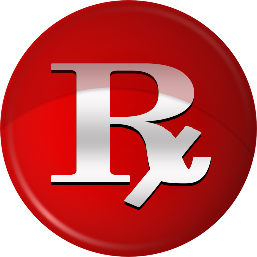 512x512 Rx Logo Pharmacy Symbol Red Clipart Image