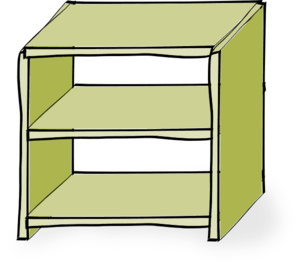 300x267 Cliparts Empty Shelf