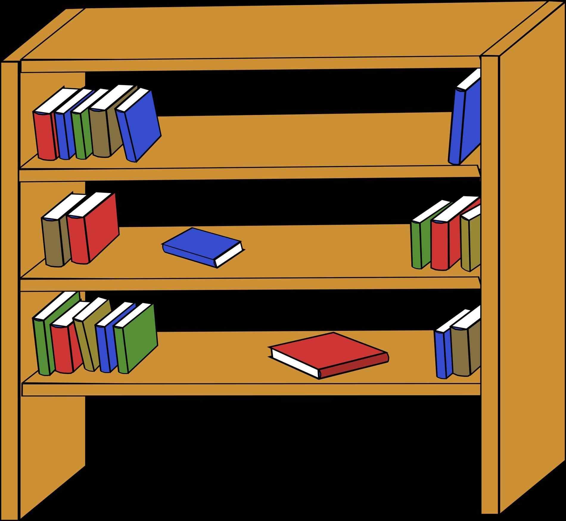 Bookshelf Clipart at GetDrawings | Free download