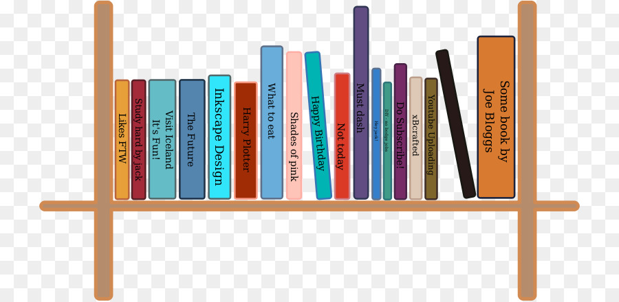 900x440 Shelf Bookcase Clip Art