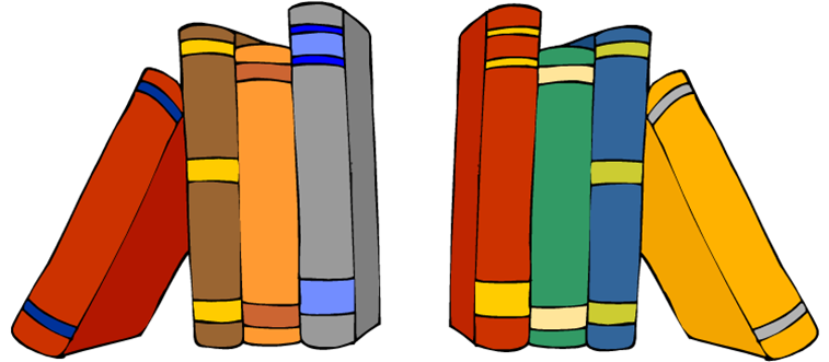 757x331 Shelf Of Books Clip Art. Bookshelf Clip Art, Vector Images
