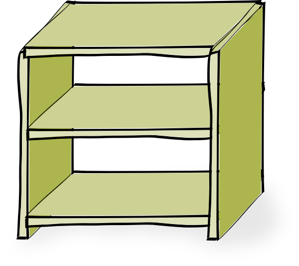 600x533 Shelves Clip Art