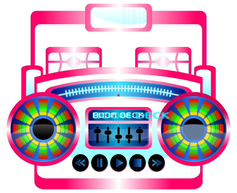 800x649 Free Clipart Mini Boom Box Fuschia Viscious Speed