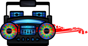 298x156 Mini Boom Box Clip Art