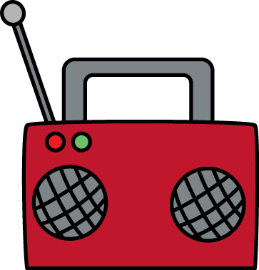 363x379 Ideal Boombox Clip Art Radio