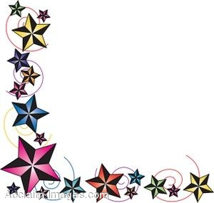300x285 Clip Art Of A Page Border Made Of Nautical Stars