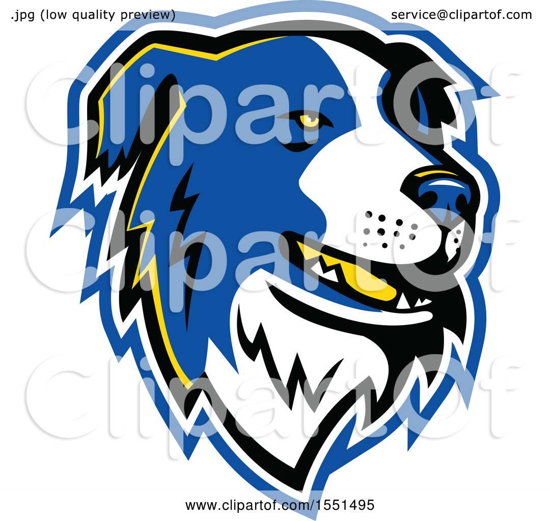1080x1024 Clipart Of A Blue Border Collie Dog Mascot Head