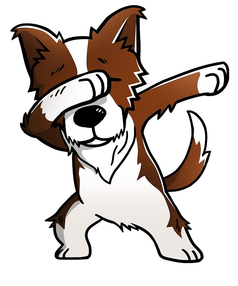 833x1000 Dabbing Red Border Collie By Ilovepaws Redbubble