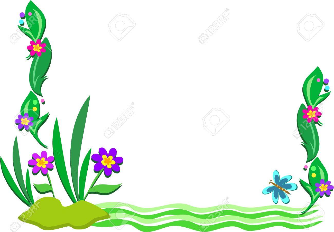 1300x903 Plant Border Clip Art 101 Clip Art