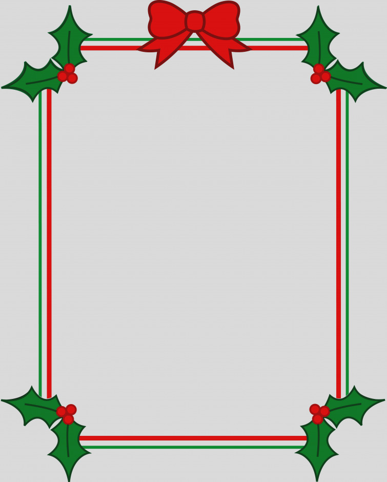 755x940 Beautiful Christmas Clip Art Borders For Word Documents Clipart