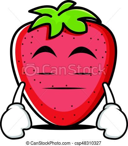 412x470 Bored Strawberry Cartoon Character Collection Vector Art Vector