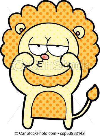 346x470 Cartoon Bored Lion Eps Vector