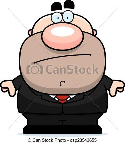 413x470 Cartoon Businessman Bored. A Cartoon Illustration Of A Clipart