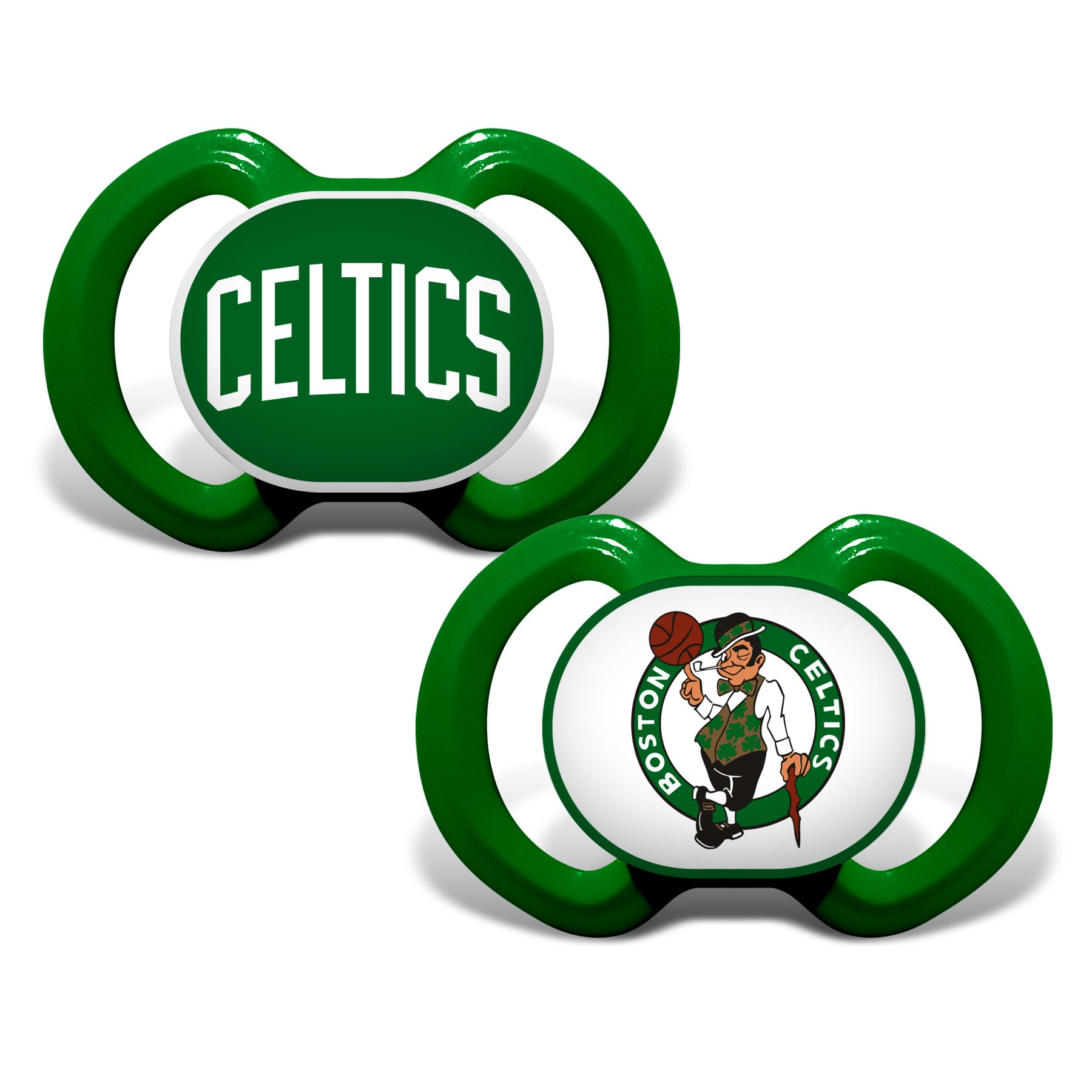 1800x1800 Boston Celtics Variety Pacifiers Babyfans