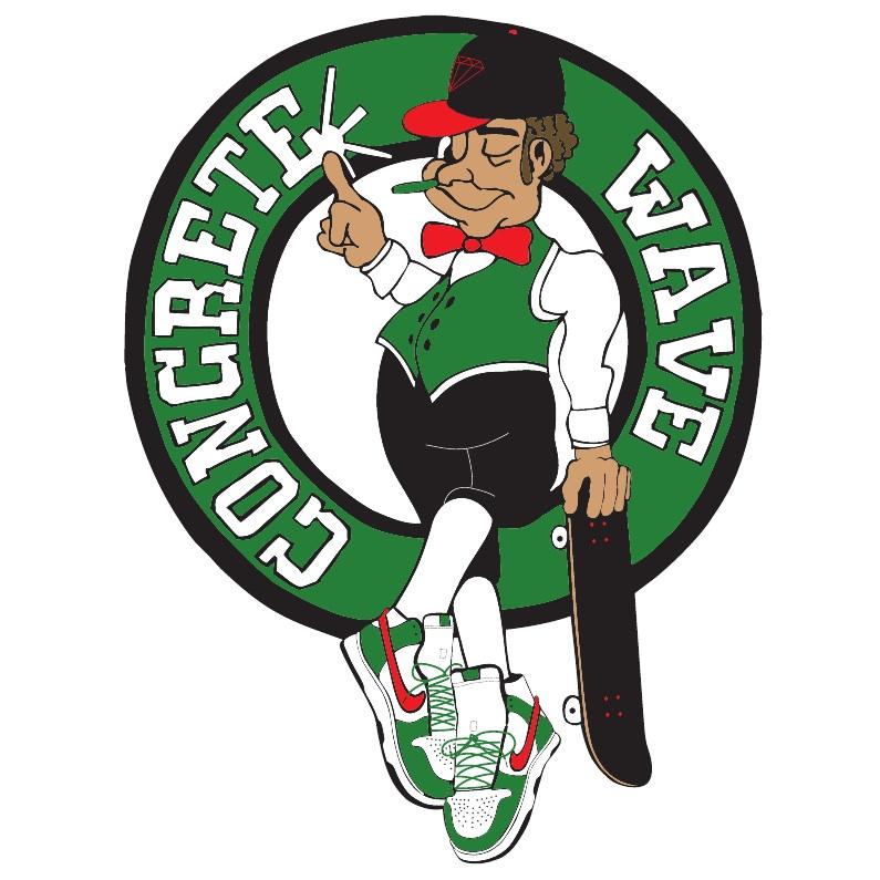 795x795 Concrete Wave Boston Celtics Logo