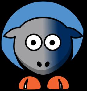 282x297 Sheep Charlotte Bobcats Team Colors Clip Art