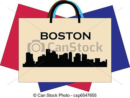 450x340 Boston Shopping Clipart Vector