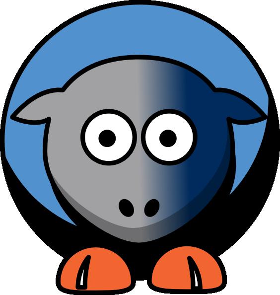 564x594 Sheep Charlotte Bobcats Team Colors Clip Art