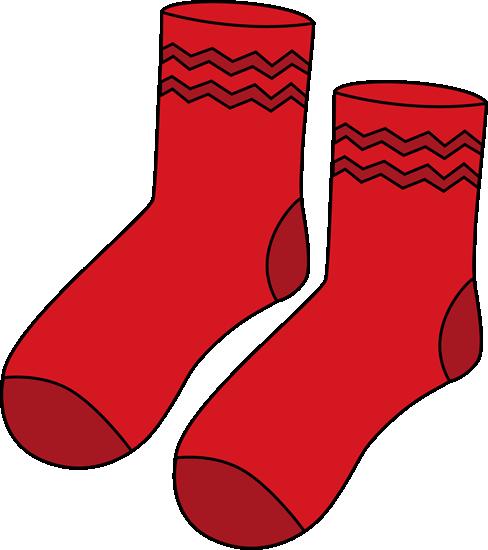 488x550 Red Socks Clipart