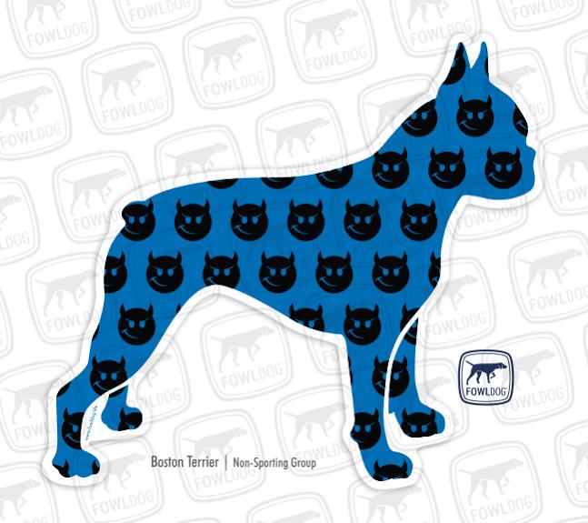 647x575 Boston Terrier Decal