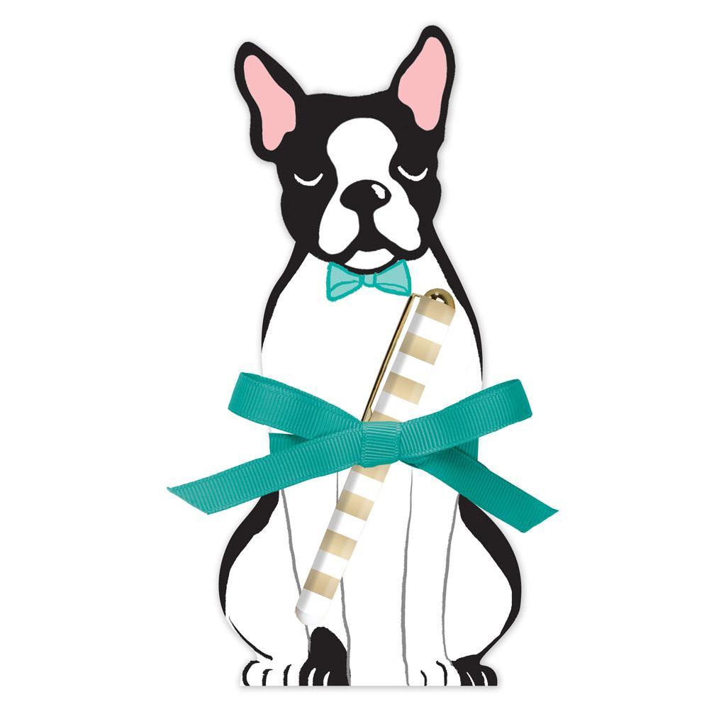 1000x1000 Boston Terrier Notepad Lola Amp Penelope'S