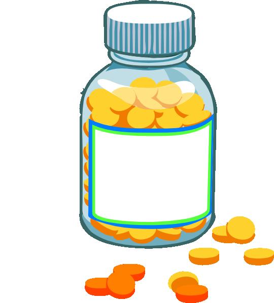 540x598 Clipart Pills Blank Pill Bottle Clip Art Graduation