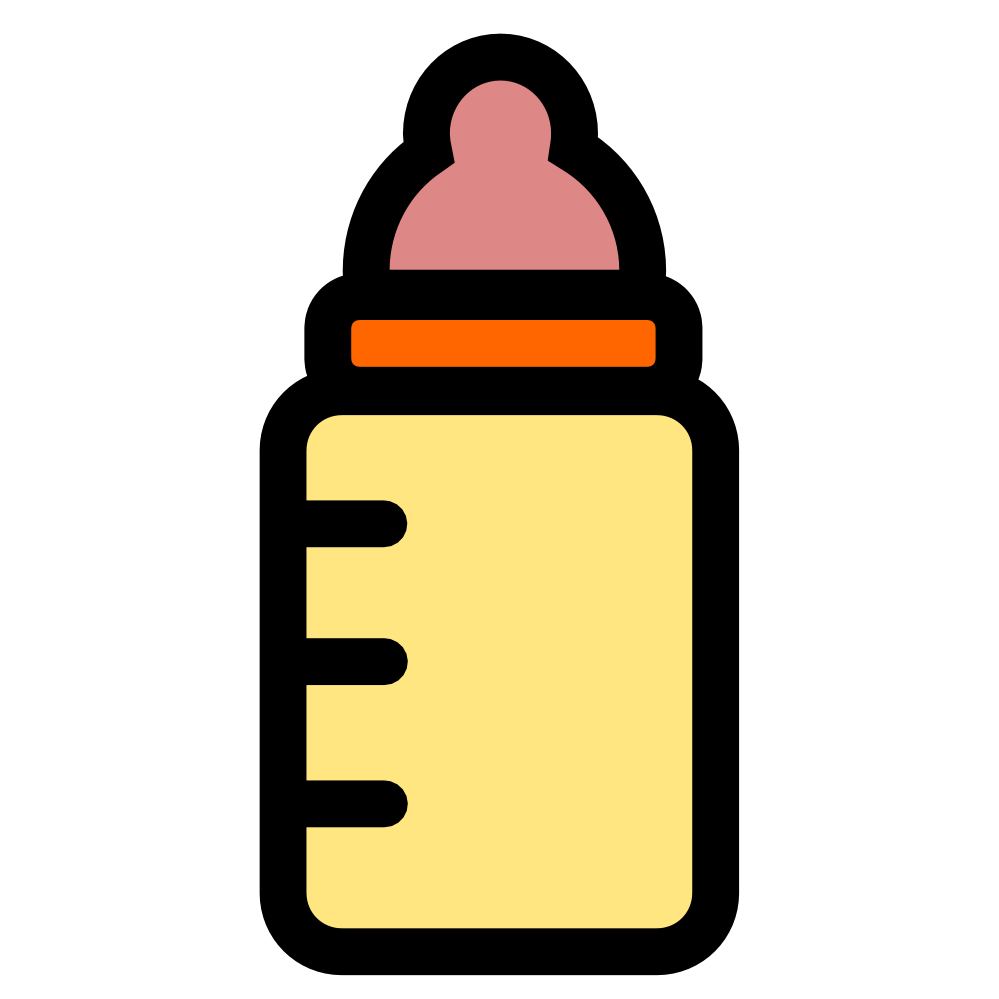 999x999 Image Of Baby Bottle Clipart