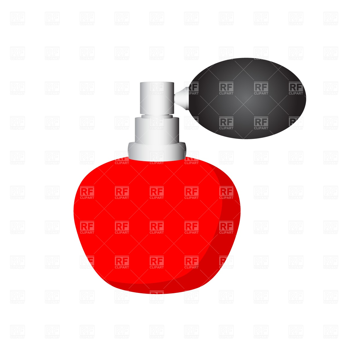 1200x1200 Red Perfume Bottle Free Download Vector Clip Art Image