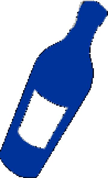 360x595 Blue Wine Bottle Clip Art