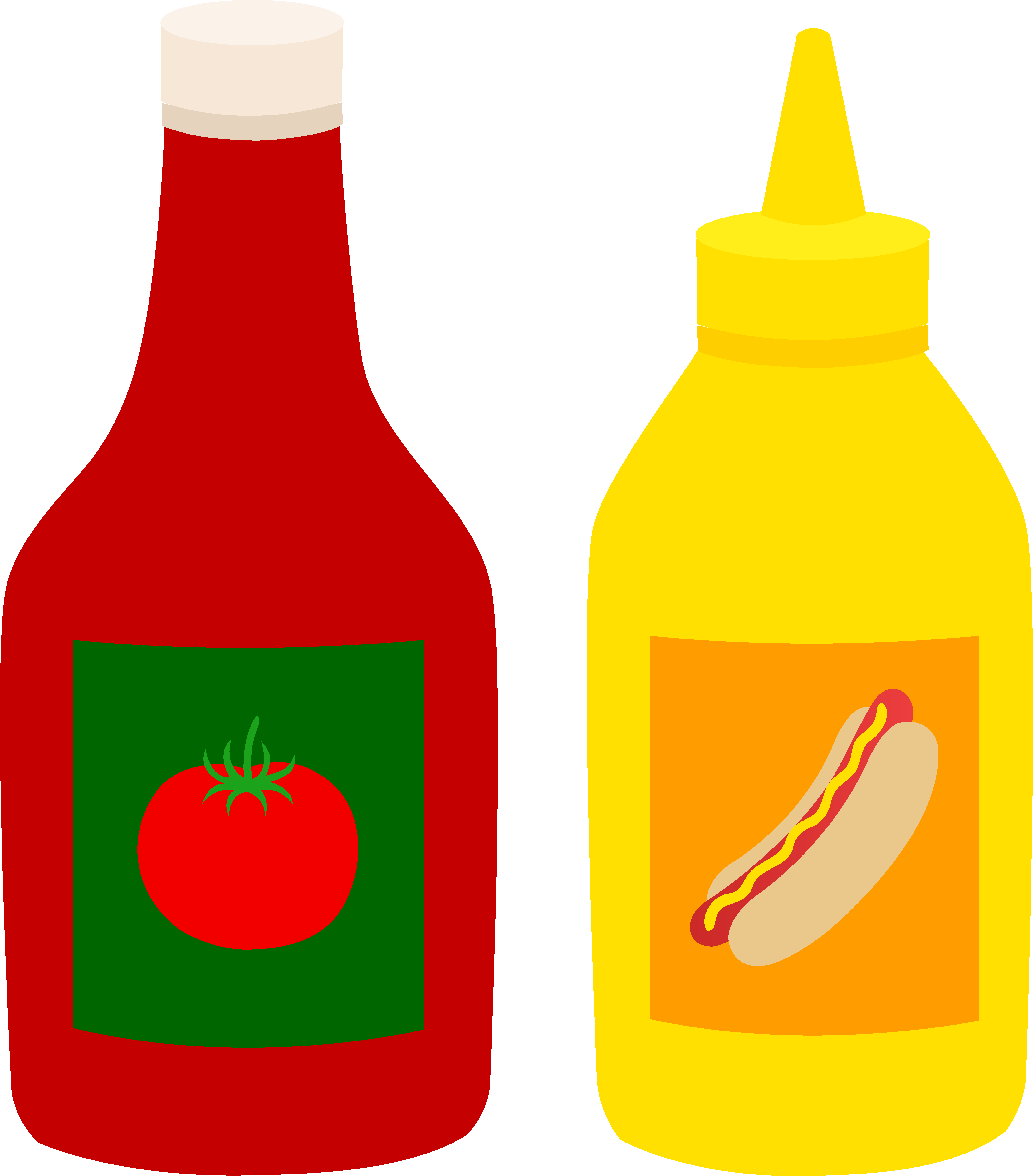 5376x6120 Bottles Of Ketchup And Mustard