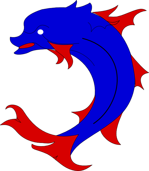 522x598 Dolphin Clipart Flip
