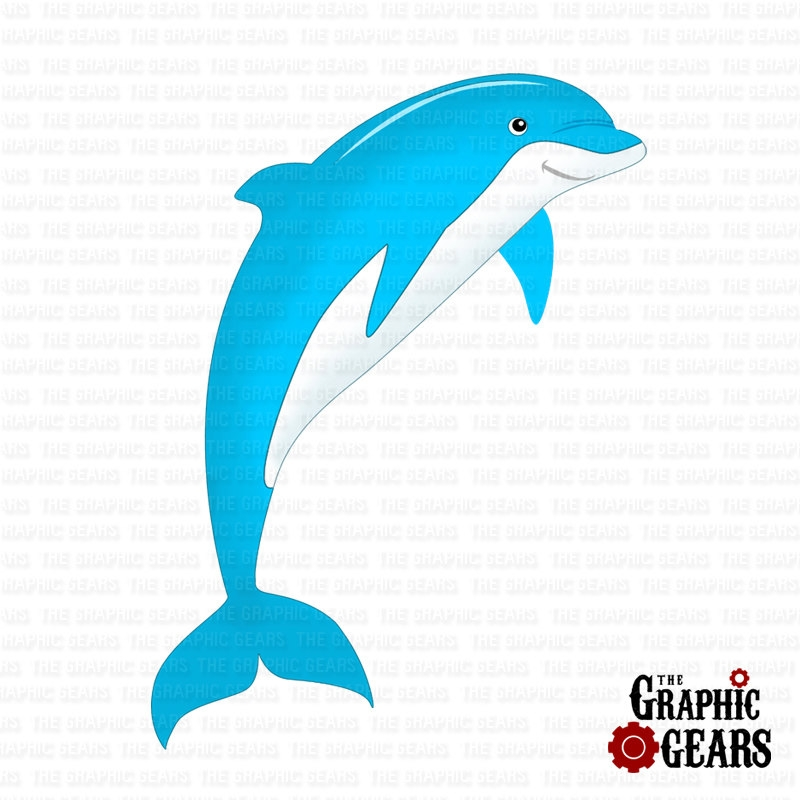 800x800 Fish Dolphin Clipart