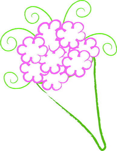 387x500 Clip Art Illustration Of A Simple Bouquet Of Flowers